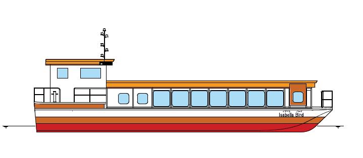 、4月1日(金)より運航開始の新旅客ジェット船『Isabella Bird』(イザベラ・バード)イメージ図
