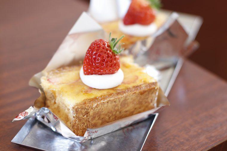 キャラメル、パイ生地、スポンジのカリフワ食感が魅力 新潟市東区
