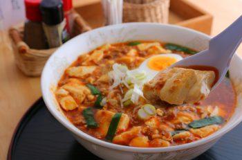 地元名物三川とうふを1丁も使った麻婆麺!|阿賀町津川