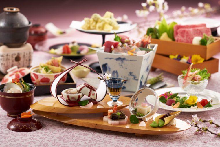 旬の食材を使用した目にも美しい和風会席料理