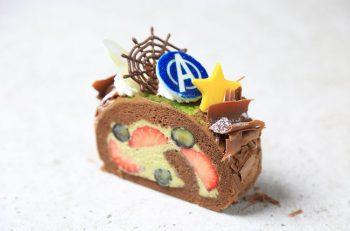 【アニバーサリーケーキラボいえい】正義の味方が大集合した男の子に食べて欲しいロールケーキ【ロールケーキパラダイス2019参加店】