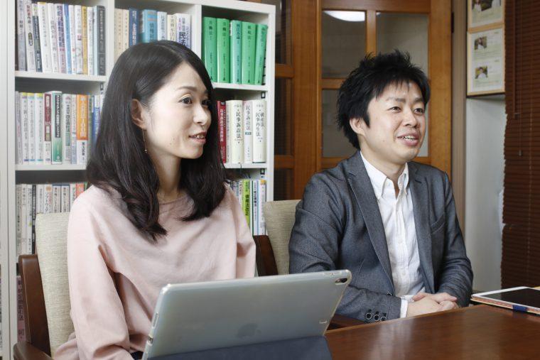 左)石川佳代さん 右)弁護士の滝沢亮さん
