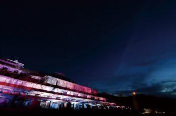 【佐渡市】幻想的! 北沢浮遊選鉱場がライトアップ