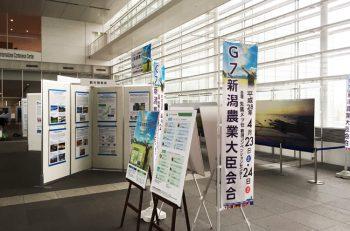 「G20新潟農業大臣会合」の開催記念パネル展