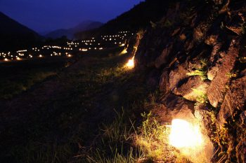 【津南町】数千個のキャンドルが津南・秋山郷の夜を灯す