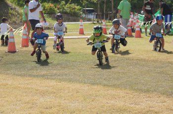 ペダルなしの二輪車・ランニングバイクのキッズ向けレース開催