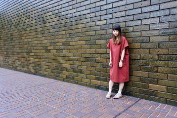 新潟の伝統織物・亀田縞を使用した「ルルル」オリジナルワンピ発売!