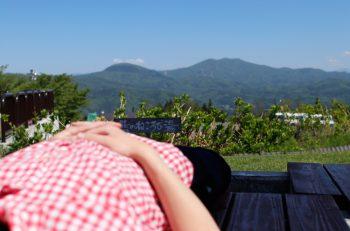 【爽快!妙高足湯3選】寝転びながら大パノラマを一望