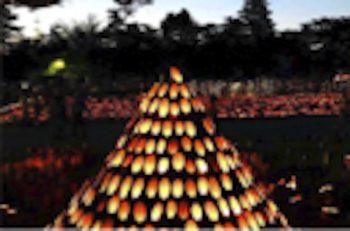 【関川村】竹灯籠が灯る幻想的な空間で、コンサートを開催