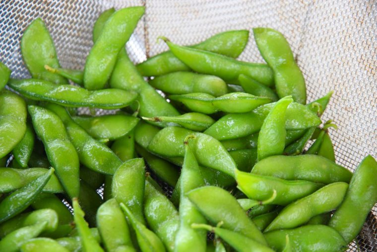 うまそ〜! これはこのあと登場する生産者さんの枝豆です