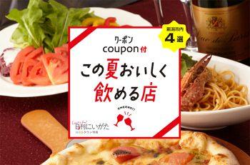 【画面表示でお得に飲めるクーポン付】この夏おいしく飲める店|新潟市内4店