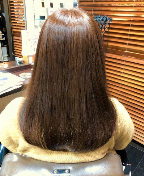 サラサラでまとまったツヤ髪に変化!