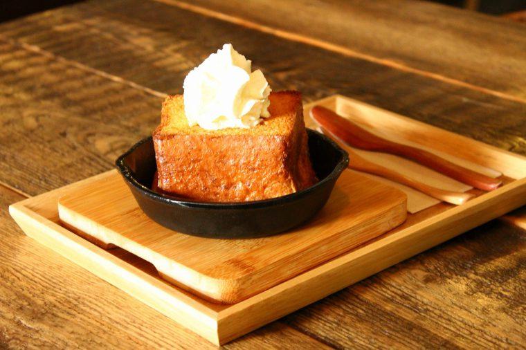 食べごたえ充分の『燦燦フレンチトースト』。一口食べたら虜になる美味しさです