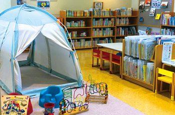 【刈羽村】村立図書館に室内テントが設置されました!