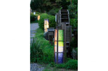 亀田地区の夏まつり。灯篭のライトアップも必見です!