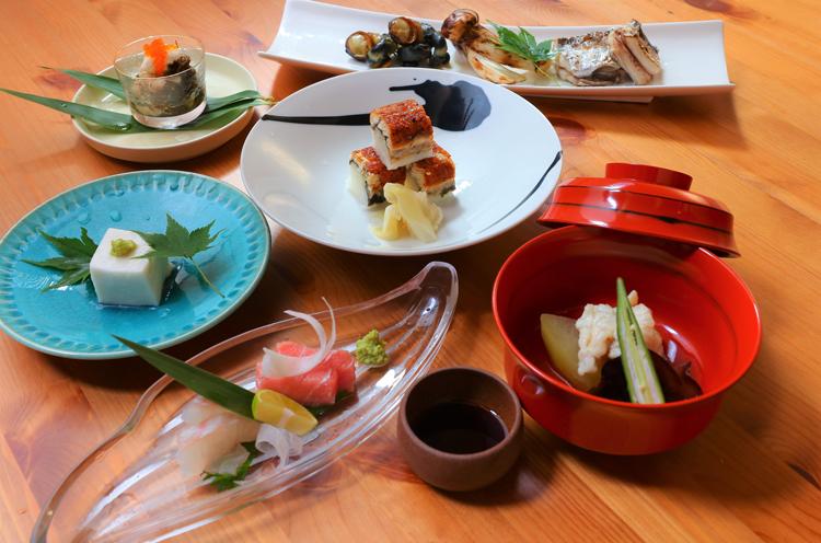 コースのお料理の一例。品数や料理は予算に合わせて提供。