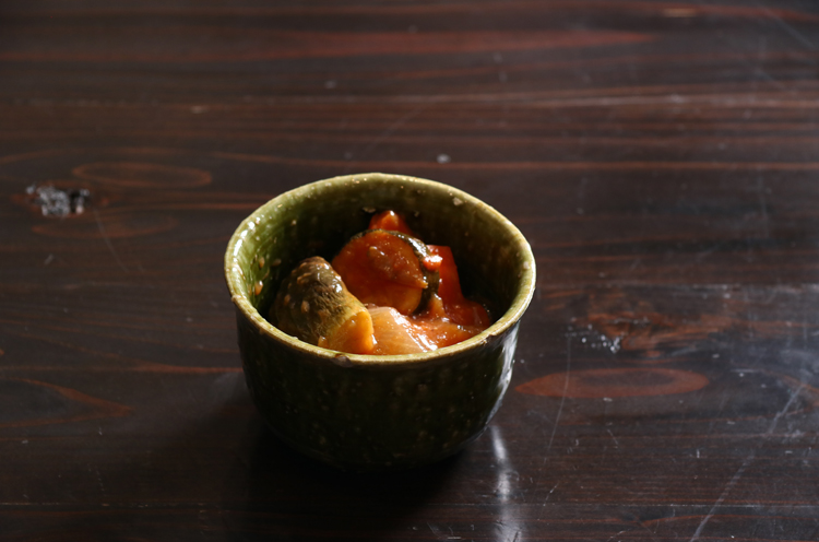 茄子とズッキーニのトマト煮