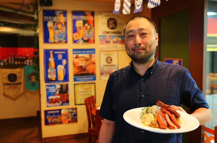 店主の嶋津さんはドイツビールが大好きなんだそう。