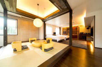 部屋数はわずか10室。贅沢な休日が過ごせる宿