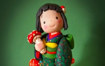 素朴な粘土の人形と羊毛フェルト・あみぐるみの作品展を五泉市の蕎麦店にて開催