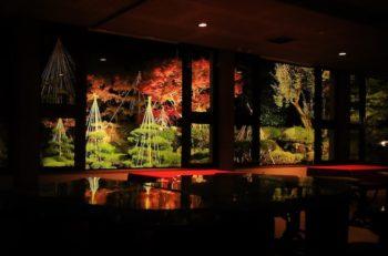 【糸魚川市】玉翠園・谷村美術館 秋の庭園ライトアップ