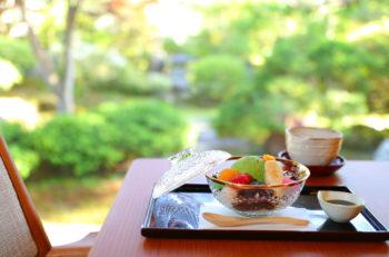 美しい日本庭園を眺めながら甘味でホッと一息|新発田市