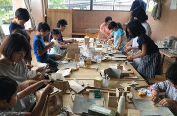 参加者募集。親子一緒に文具や玩具などの桐小物を作ってみよう!