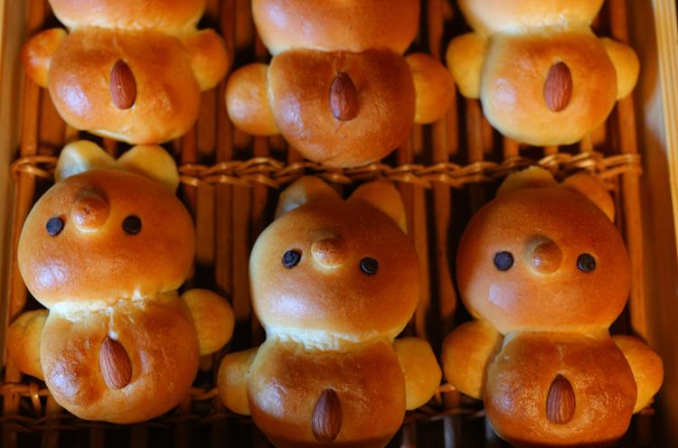 お店のマスコットパン的存在の『まにちゃん』。