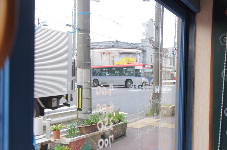 ウチノ食堂店内からの眺め