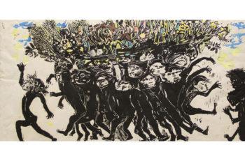 新津美術館所蔵の作品と式場庶謳子の版画作品を特集展示する
