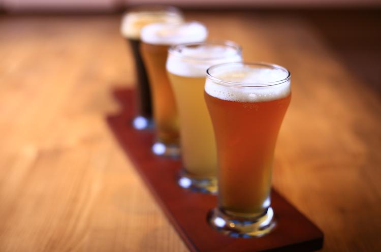 ビールやワインの提供もある。