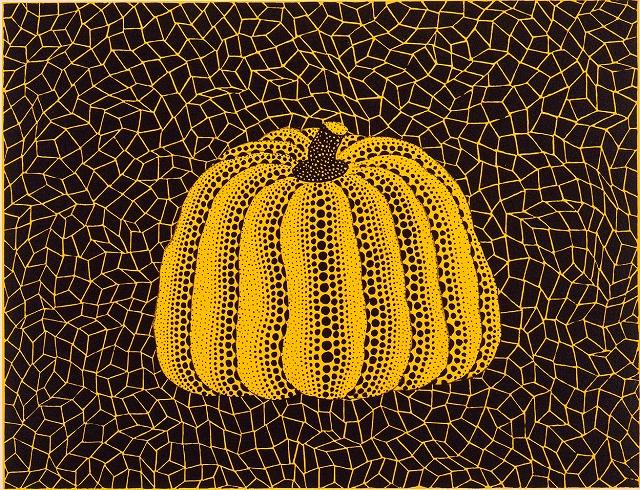 草間彌生《南瓜(黄)》1984年、リトグラフ、新潟市美術館蔵