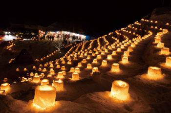 【上越市】約60kmの沿道に、10万本もの灯がともります!