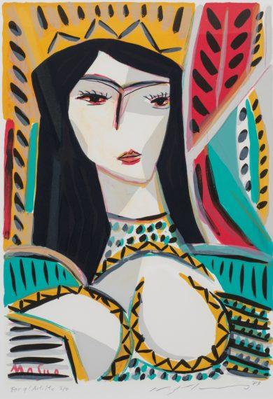 池田満寿夫《庭の中の女》1987年 西川出張所所蔵