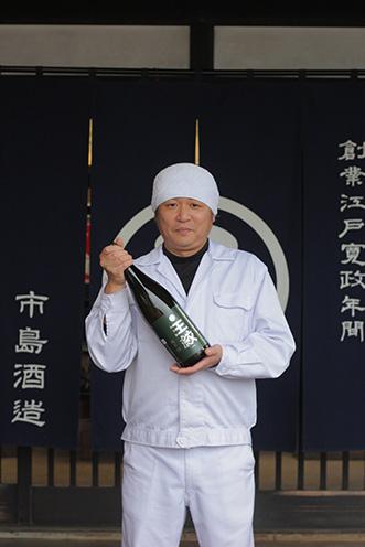 「ロックやハイボールと、自由な飲み方で楽しめますよ」市島酒造・杜氏の田中さん