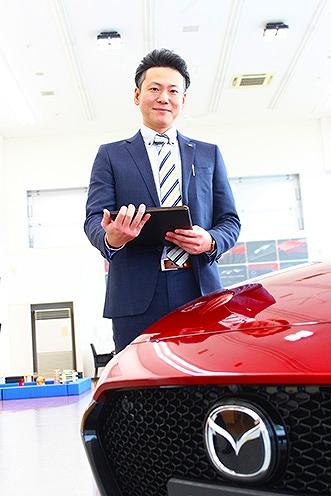 今回紹介してくれた新潟マツダ自動車長岡店の鎌田さん