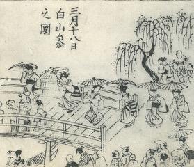 「三月十八日 白山祭之図」『越後土産』より