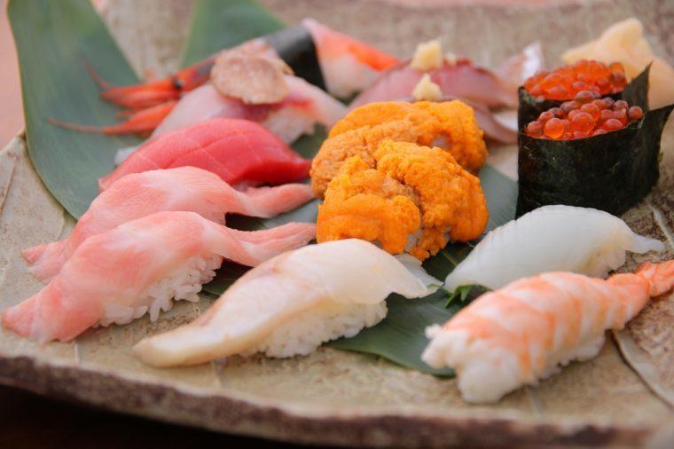 旬海佳肴 一家の『お寿司盛り合わせ』