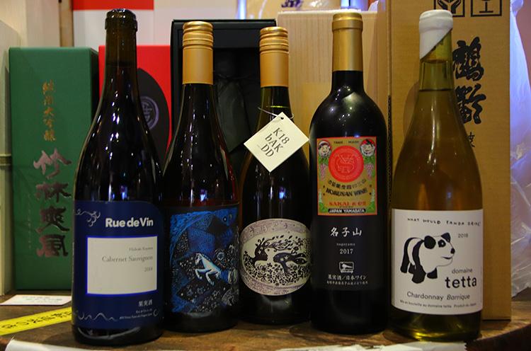 山梨県の共栄堂、長野県のRue de Vin、岡山県のdomaine tettaといった国産ワインを取り扱う