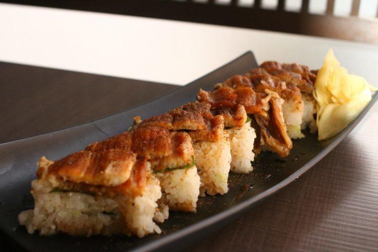 ほっこり居酒屋 瓢膳の 『穴子の押し寿司』