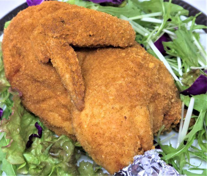 五左衛門の『鶏の半身揚げカレー味』 ほか