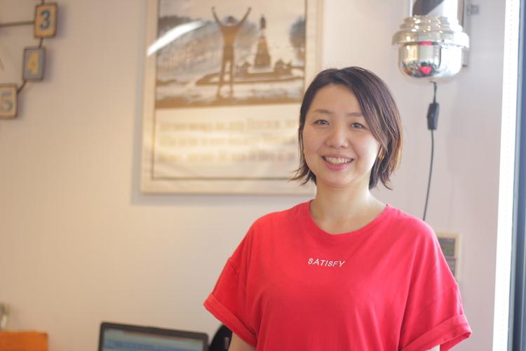 4月より産休から復帰したスタイリスト今井 恵利花さん。「女性の目線で、一人ひとりに合ったヘアスタイルをご提案させて頂きます」