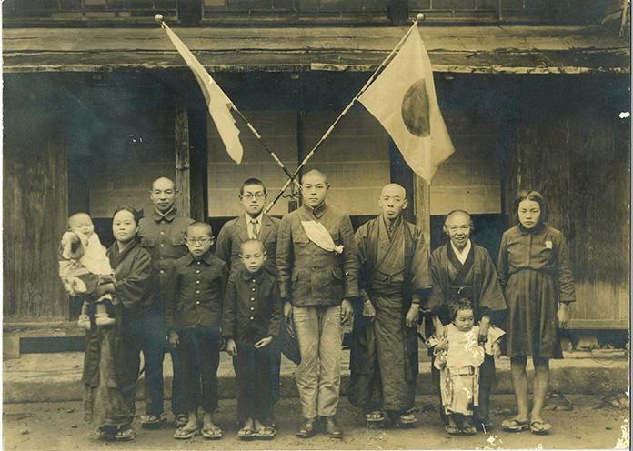 出征時の家族写真(個人蔵)