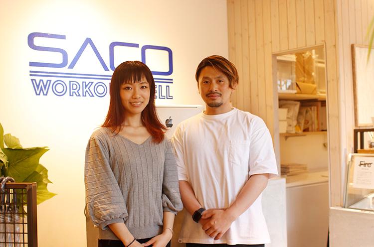 池ヶ谷さんとSACO WORKOUT WELL代表の迫慶太さん