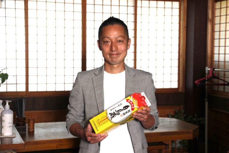 「いち藤さんは住み込みしたいくらい大好きなお店です(笑)」と杜氏の大竹さん。越後桜酒造の酒造りの責任者でもある方です