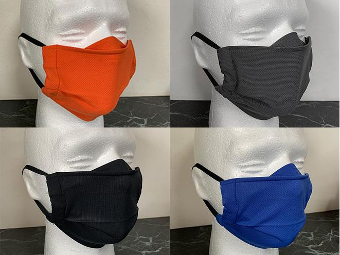カラーはオレンジ/グレー/ブラック/ブルーの4色