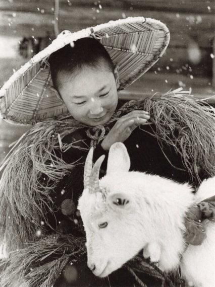 田園の微笑「山羊と少年」