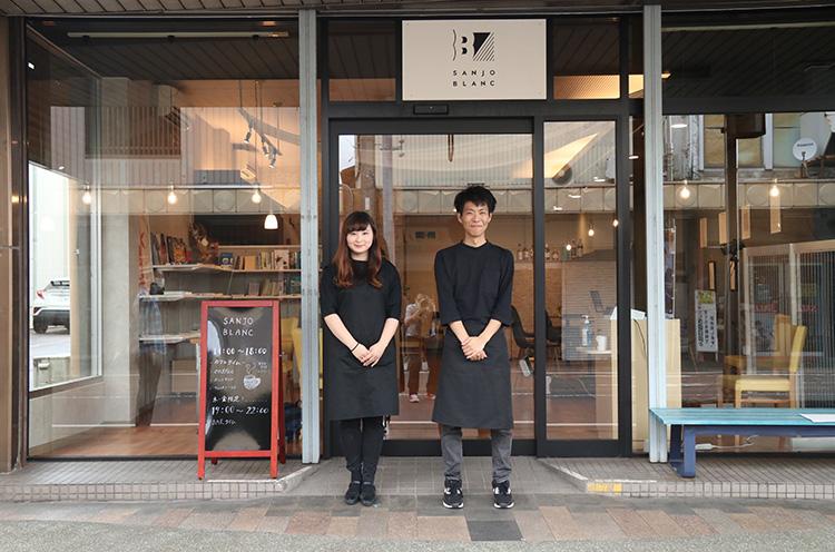 「三条市地域おこし協力隊」の宮本さん(左)と池田さん(右)