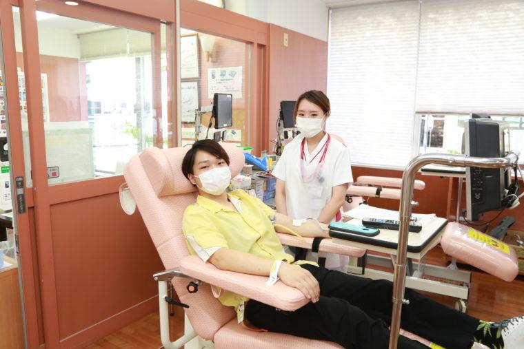 今回で献血8回目という吉川さん