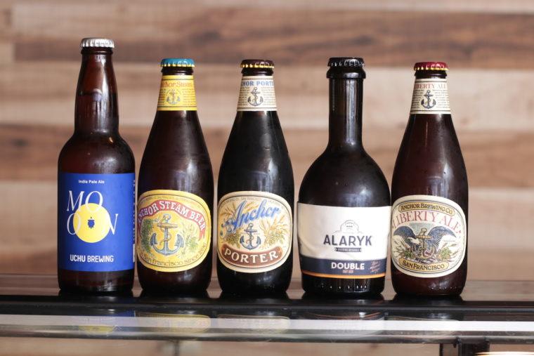 珍しいクラフトビールも揃えています